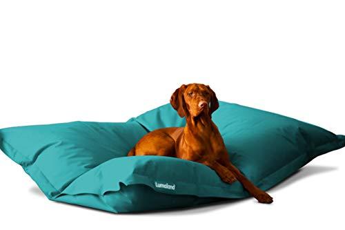 Hundekissen aus leicht abwaschbaren Material für große & kleine Hunde | Hundesofa Hundebett Schlafplatz Ruheplatz Hundematratze 320L / 140x180cm Aquamarin