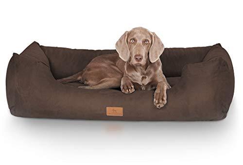 Knuffelwuff Hundebett Dreamline Hundekorb Hundesofa Hundekissen Hundekörbchen waschbar Braun grosse Hunde XXXL 155 x 105cm