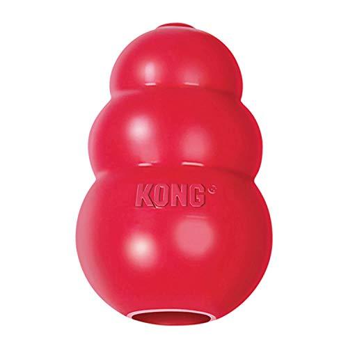 KONG – Classic Hundespielzeug, Robuster Naturkautschuk – Kauen, Apportieren – Für Mittelgroße Hunde