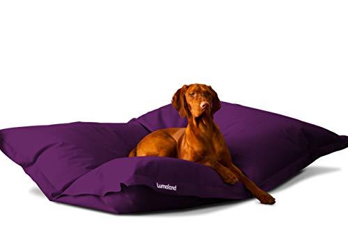 Hundekissen aus leicht abwaschbaren Material für große & kleine Hunde | Hundesofa Hundebett Schlafplatz Ruheplatz Hundematratze 320L / 140x180cm Lila