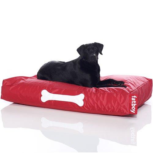 Fatboy® Doggielounge Big rot | XXL Nylon-Hundekissen | Abwaschbares Hundebett für große und kleine Hunde | 120 x 80 x 15 cm