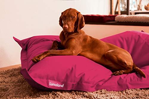 Hundekissen aus leicht abwaschbaren Material für große & kleine Hunde   Hundesofa Hundebett Schlafplatz Ruheplatz Hundematratze 320L / 140x180cm Pink
