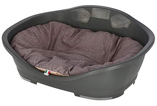 Cajou Kunststoffbett mit passendem Hundekissen (Wendekissen) waschbar (88 x 62 x 35,5 cm)