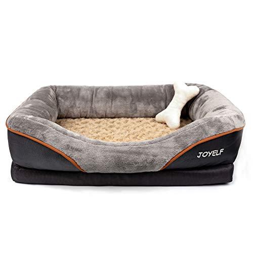JOYELF Medium Memory Foam Hundebett Orthopädisches Hundebett & Sofa mit abnehmbarem waschbarem Bezug und Quietschspielzeug als Geschenk