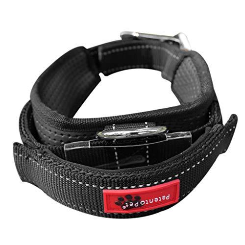 Koobysix Hunde-Zubehör, elastisches einziehbares Hundehalsband mit integrierter Leine, Haltegriff, Geschenke für Ihren Hund