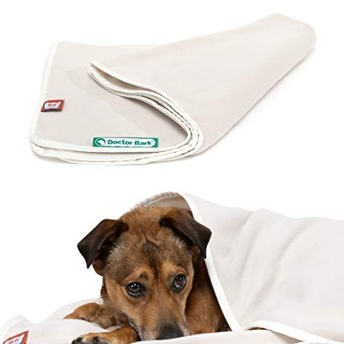 Doctor Bark | kuschelige Hundedecke waschbar bis 95°C, hygienische, weiche Fleecedecke für Sofa und Hundebett, Flauschige Haustierdecke - Made in Germany (XL - 140x100 cm/Blaugrau)