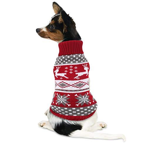 Strickpullover für Hunde mit Norwegermuster