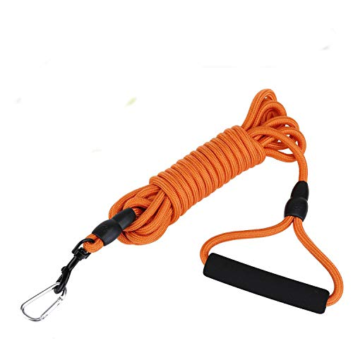 KATELUO Schleppleine 2m/5m/10m für Hunde,Seil Hundeleine für Welpen und Kleine Hunde,Geeignet für Hundewandern, Interaktion, tägliches Training.mit 2 Karabinerhaken,Handschlaufe (10M, Orange)