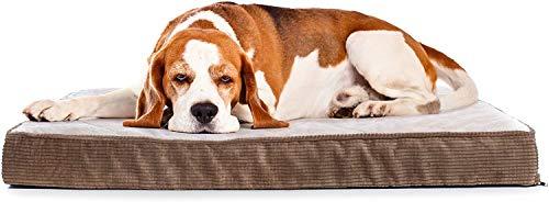 Milliard - Orthopädisches Stepp-Hundebett/Haustierbett - Schaumstoff in Eierkarton-Struktur mit waschbarem Bezug - für normalgroße Hundekäfige – 106 x 68 x 10cm (Large)
