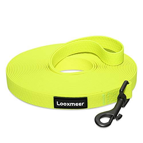 Looxmeer Schleppleine für Hunde, 3m /5m /10m /15m /20m /25m /30m Robuste Hundeleine Trainingsleine mit Aufbewahrungsbeutel, Handschlaufe und D-Karabiner