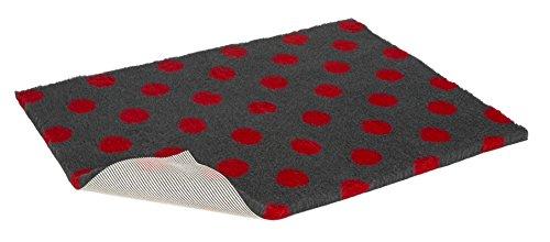 Vetbed Haustierbett, rutschfeste Unterseite, Small, Anthrazit mit roten Punkten