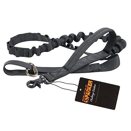 EXCELLENT ELITE SPANKER Taktische Bungee Hundeleine Militär Leine Hunde Elastische Braun Schwarz Hundeleine Walk Trainingsleine(Schwarz)