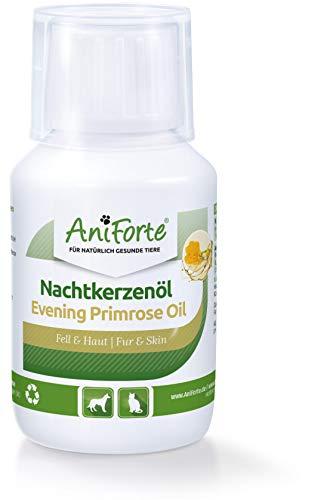 AniForte Nachtkerzenöl für Hunde & Katzen 100ml – ungesättigte & gesättigte Fettsäuren, Omega 6 & 9, Stärkung des Wohlbefinden, Recyclebare Verpackung ohne BPA, Naturprodukt, Keine Kapseln