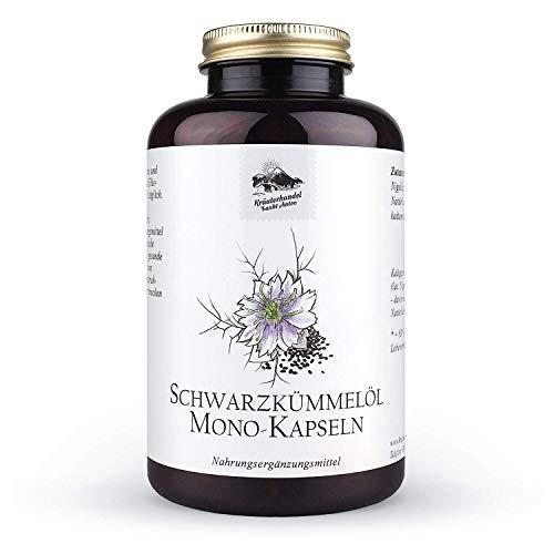 KRÄUTERHANDEL SANKT ANTON® - 400 Schwarzkümmelöl Kapseln - 1000 mg Tagesdosis kaltgepresstes Schwarzkümmelöl - Hochdosiert - Vitamin E - Deutsche Premium Qualität