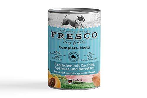 Fresco Dog Complete-Menü Kaninchen mit Zucchini, Aprikose und Borretsch (haltbares B.A.R.F.)