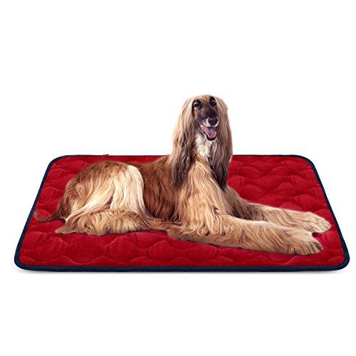 Weiche Hundebett Große Hunde Luxuriöse Hundedecken Waschbar Strapazierfähige Hundekissen rutschfeste Hundematte Rot XL HeroDog