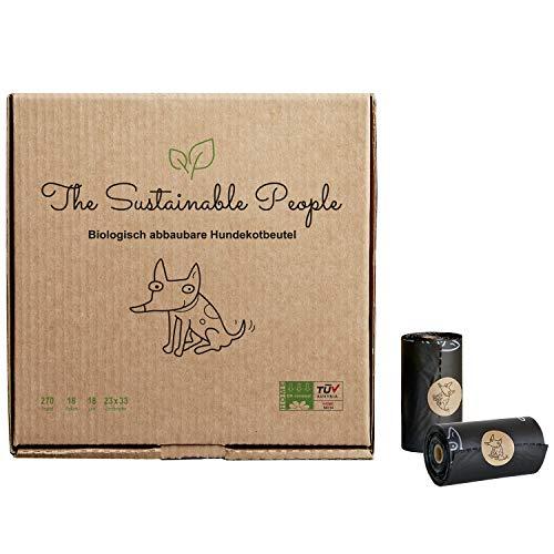 The Sustainable People: 120 Stk. Hundekotbeutel Premium - OK compost HOME zertifiziert - 100% heim-kompostierbar