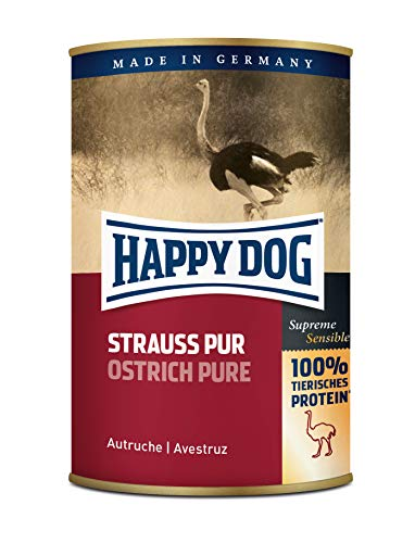 Happy Dog Strauß Pur, 12er Pack (12 x 400 g)