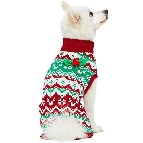 Hunde-Weihnachtspullover in verschiedenen Mustern
