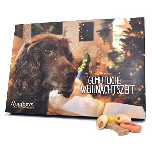 Romneys Adventskalender für Hunde | 24 Türchen mit Leckerchen | Leckere Snacks für die Vor-Weihnachtszeit und Adventszeit | Ideal als Geschenkidee unter Hundefreunden