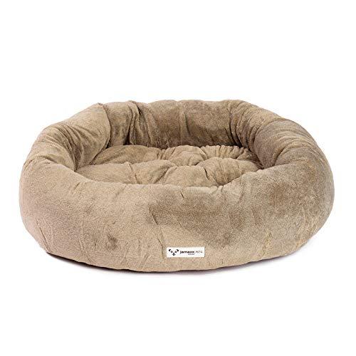 JAMAXX Super-Soft Donut Hundebett Flauschige Weiche Komfort-Polsterung Hundekörbchen Waschbar Hundekorb PDB2083 (M) Dark-Sand