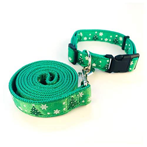 Set aus Leine und Halsband - Rot oder Grün