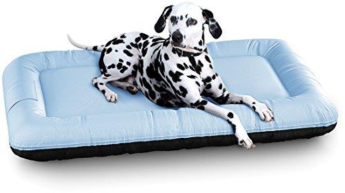 Knuffelwuff 13061 In und Outdoor Hundebett Hundekissen Hundesofa Hundekörbchen Hundekorb, Lucky Color Edition, Größe XXL 120 x 85 cm, blau