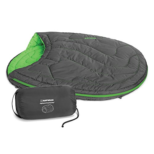 Ruffwear Schlafsack für Hunde, Ideal für Camping und Rucksackreisen, One Size - Passend für die meisten Hunderassen, Grün (Meadow Green), Highlands Sleeping Bag, 1060-345M