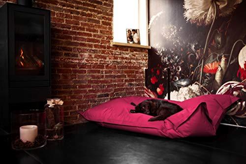 Hundekissen aus leicht abwaschbaren Material für große & kleine Hunde | Hundesofa Hundebett Schlafplatz Ruheplatz Hundematratze 320L / 140x180cm Pink