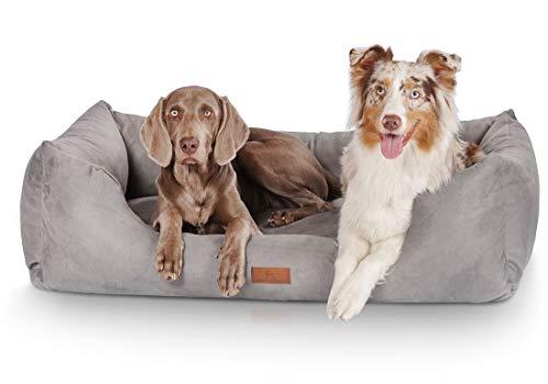 Knuffelwuff Hundebett Dreamline Hundekorb Hundesofa Hundekissen Hundekörbchen waschbar Grau grosse Hunde XXXL 155 x 105cm