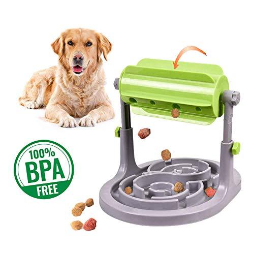Alsanda Interaktives Hundespielzeug Futter Napf 2in1 fr Hunde und Katzen | Gesunder Snackspender | Unzersrbares Intelligenzspielzeug fr Hunde | Mit Anti Schling Napf | BPA-Frei