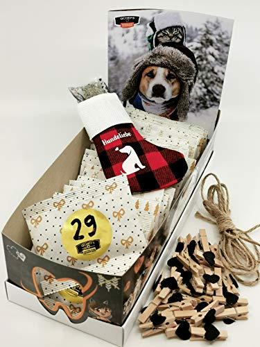 Qchefs Hunde Adventskalender 2020 Ihr Hund öffnet selbst das Türchen  Hundeleckerlie glutenfrei  Zahnpflege-Snack  Mundgeruch Weg  Für Barf& Allergiker  Kleine & Große   Natur pur& Hüttenkäse