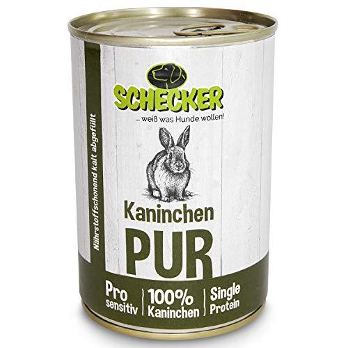 Schecker DOGREFORM pur - getreidefreies Nassfutter für den Hund (Kaninchen, 6X 410g)