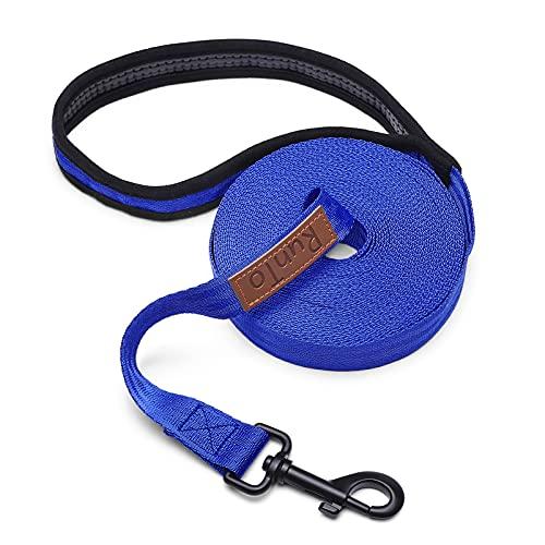 Schleppleine für Hunde,5m Robuste Hundeleine Trainingsleine mit Aufbewahrungsbeute rutschfeste und Robuste Laufleine für Kleine bis Große Hunde- Blau