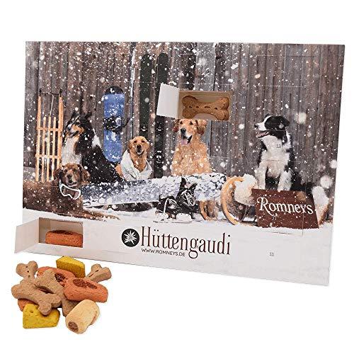 Romneys Adventskalender für Hunde   24 Türchen mit Leckerchen   Leckere Snacks für die Vor-Weihnachtszeit und Adventszeit   Ideal als Geschenkidee unter Hundefreunden