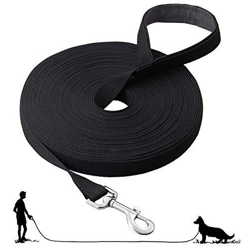 Fttouuy Schleppleine Hunde - 5m Übungsleine mit Gepolsterten Griff- Robuste Trainings Leine aus langlebigem Nylon - Laufleine für große & Kleine Hunde