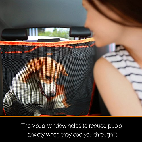 iBuddy® Hundedecke für Auto Rückbank mit Sichtbarem Fenster, verdickte Autoschondecke Komplettschutz Kratzfest rutschfest wasserdicht Abriebfest, Auto hundedecke ruecksitz&1 Hund Sicherheitsgurt