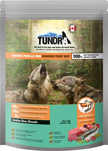 Tundra Hundefutter Rentier, Forelle & Rind