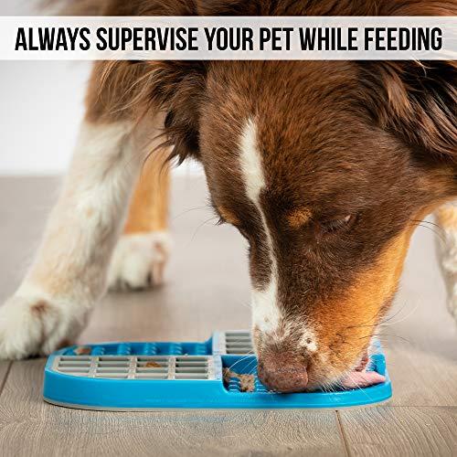 Hyper Pet Lick Matte für Hunde, Langeweile Buster, perfekt für Hundefutter, Leckerlis, Joghurt oder Erdnussbutter, erhältlich in einer Vielzahl von Farben und Größen, Standard, grau / blau