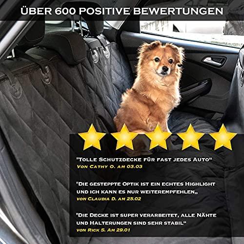 Heldenwerk Autoschondecke Hund Rücksitz wasserdicht & kratzfest - Universal Hundedecke für Auto Rückbank inkl. Seitenschutz - Hunde Autodecke, Rückbank Schutz