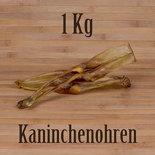 1 Kg ca. 100 Stück Getrocknete Kaninchenohren wie Schweineohren Rinderohren Kausnack Kauartikel
