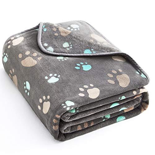 ALLISANDRO® Super Softe Warme und Weiche Decke für Haustier Hundedecke Katzendecke Fleece-Decke/Tier Schlafdeck Überwurf für Hundebett Sofa und Couch- Gr. 200x150cm, Grau
