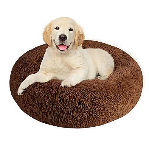 SlowTon Haustierbett Schöne Tierbett Hundesofa Katzensofa Kissen, Donut-Kuschelnest Warmes weiches Plüsch Hundekatzenkissen mit Schwamm-rutschfestem Boden für kleine mittelgroße Haustiere
