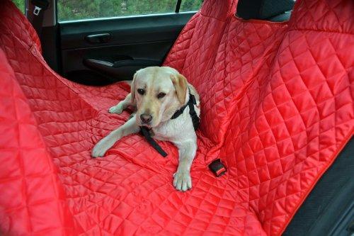 tierlando® Autoschondecke REX teilbar Reißverschluss Schutzdecke Auto 160 180 200 x 140cm Größe: SMR 180 cm | Farbe: 04 Rot