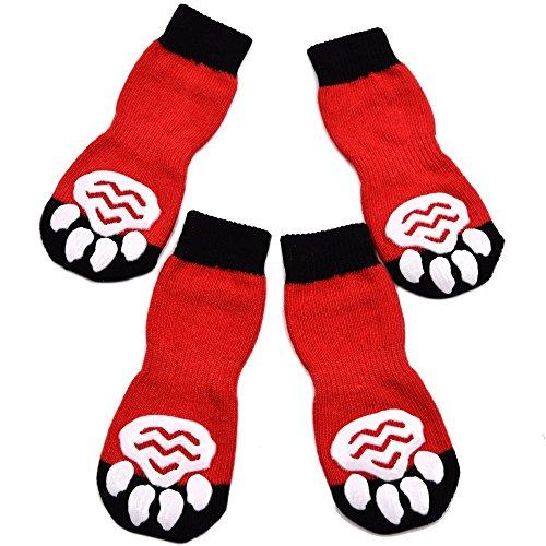 Expawlorer Anti-Rutsch-Hundesocken für Innenbereich, Pfoten-Schutz