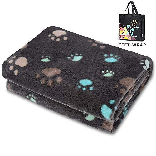 Allisandro® Super Softe Warme und Weiche Decke für Haustier Hundedecke Katzendecke Fleece-Decke/Tier Schlafdeck Überwurf für Hundebett Sofa und Couch- Gr. 200x150cm , Grau