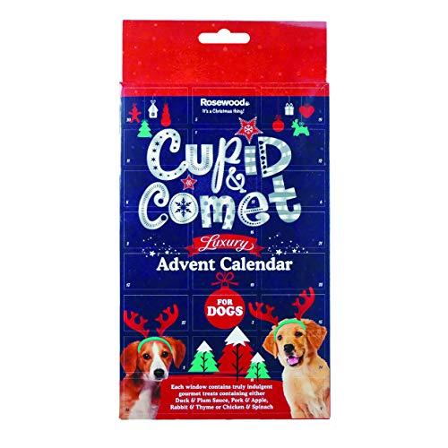 ROSEWOOD Calendrier de l'Avent de Luxe Cupid&Comet, friandises avec viande, fruits, herbes et légumes - Pour chien