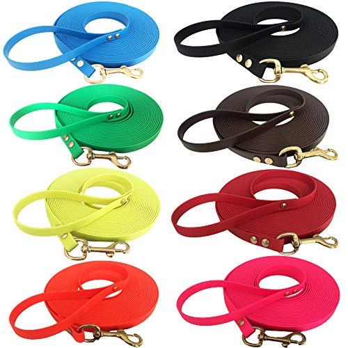 Sehr leichte Welpenleine Hundeleine Schleppleine für Welpen und kleine Hunde aus Biothane mit Handschlaufe, 3 Meter lang, Schwarz, 9 mm breit Superflex