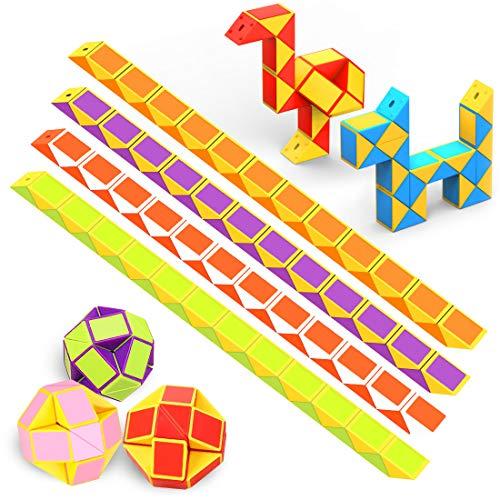 WEARXI Mitgebsel Kindergeburtstag - 12er 24 Blöcke Magische Schlange Spielzeug Give Aways Kindergeburtstag Gastgeschenke Adventskalender Füllung Kinder 2020 Knobelspiele Kinder Party Zufällige Farben