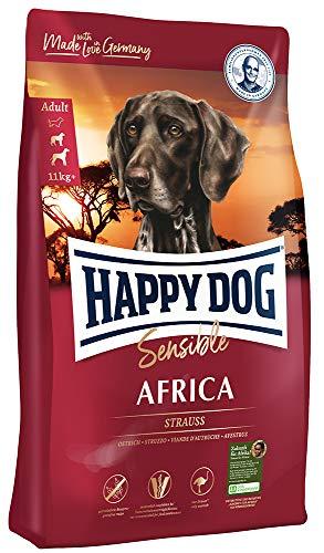 Happy Dog 03548 - Supreme Sensible Africa Strauß - Hunde-Trockenfutter für ausgewachsene Hunde - 12,5 kg Inhalt